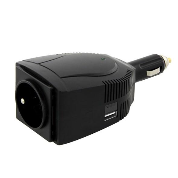 Carspa CAR1001 12V/230V+USB 100W modifikovaná sinus.