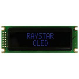 Alfanumerický OLED displej Raystar REC001602DBPP5N00000