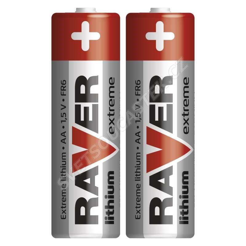 Lítiová batéria Raver FR6 (AA, ceruzka), 2 ks v blistri