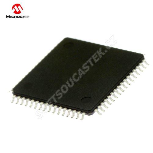 32-Bit MCU 2.3-3.6V 80Mhz 256kB Flash TQFP64 Microchip PIC32MX575F256H-80I/PT