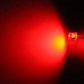 LED 5mm červená 770mcd/100° čirá Hebei 599MR2C