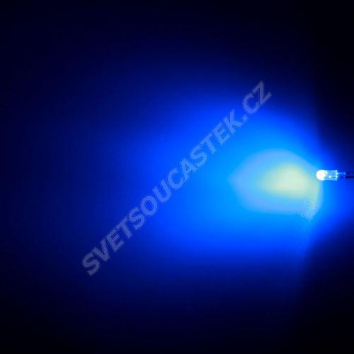 LED oválná 3,9x3,1mm modrá 1100mcd/(110/50°) difúzní Hebei 3751LB7D-SB