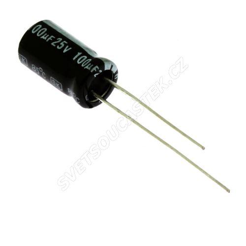 Miniatur-Elkos radial 25V 20% 85°C (SKR101M1EE11M)