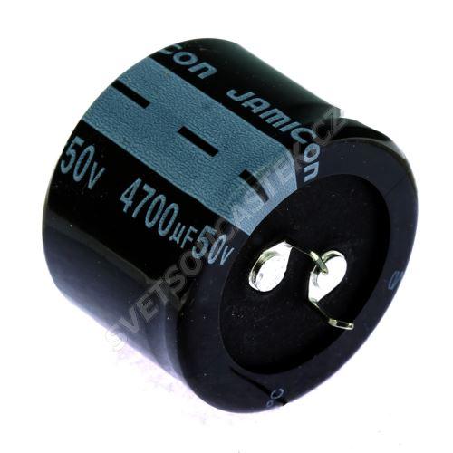 Elektrolytický kondenzátor Snap-in E 4700uF/50V 35x25 RM10 85°C Jamicon LPW472M1HQ25M