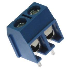 Šroubovací svorkovnice do DPS 2 kontakty 16A/300V RM 5.0mm zelená barva Degson DG126-5.00-02P-14-00A(H)(+)