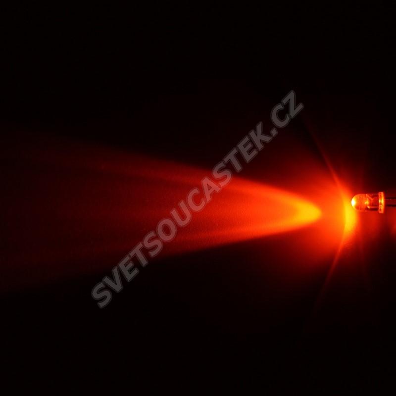 LED 5mm oranžová 4000mcd/30° čirá Hebei 530Mo0C