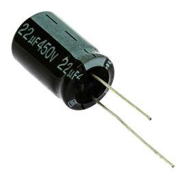 Elektrolytický kondenzátor radiální E 22uF/450V 16x25 RM7.5 85°C Jamicon SKR220M2WK25M