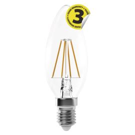 LED žárovka Filament Candle A++ 4W/250° neutrální bílá E14/230V Emos Z74214