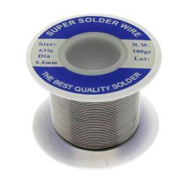 Olovnatá pájka 0.8mm 100g Sn63Pb37E Ku Ping Pure Core Solder Wire