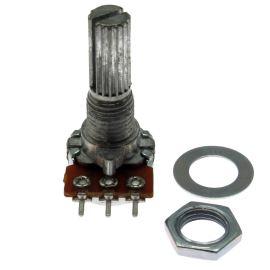 Potenciometr uhlíkový 13mm 0.1W lineární MONO 10k Ohm horizontální Xin Chang WH120-1-2 B10K 20/13