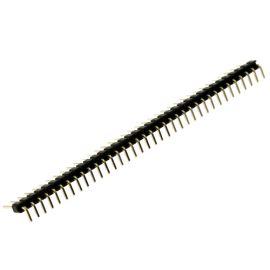 Lámací kolíková lišta jednořadá 36 pinů RM2.54mm pozlacená úhlová 90° 112-A-S R 36G3