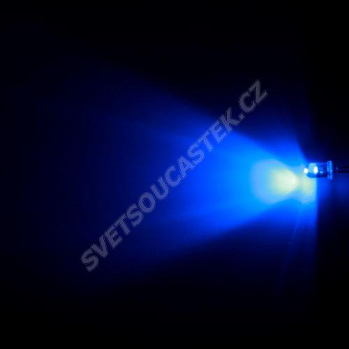 LED 5mm modrá 1000mcd/65° čirá Hebei 560PB6C