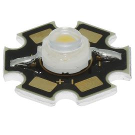 LED STAR 1W žlutá 50lm/120° Lambertian Hebei S12LY9C