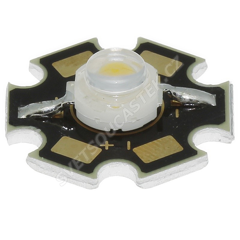 LED STAR 1W žlutá 50lm/120° Lambertian Hebei S12LY9C