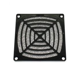 Ochranná plastová mřížka s filtrem pro ventilátory 80x80mm SUNON 08D-1