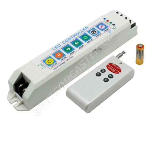 Regulátor RGB LED pásků s RF dálkovým ovládáním Hebei RGB Controller-303