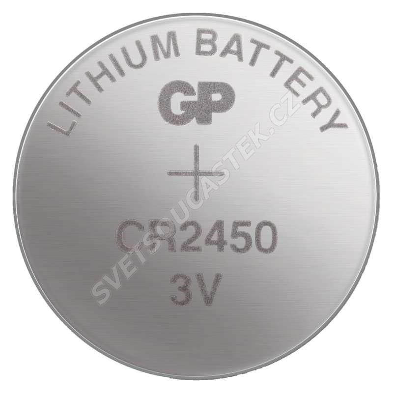 Lítiová gombíková batéria GP CR2450