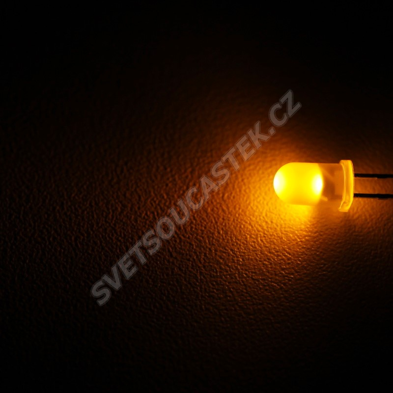 LED 5mm žlutá 360mcd/30° difúzní Wenrun LUY50330