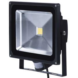 LED reflektor MCOB 50W Hobby neutrální bílá s pohybovým čidlem