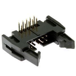 Konektor IDC pro ploché kabely 10 pinů (2x5) RM2.54mm do DPS úhlový 90° Xinya 119-10 G R K