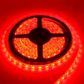 LED pásek červená délka 1 metr, SMD 5050, 60LED/m (balení 5m) - nevodotěsný STRF 5050-60-R