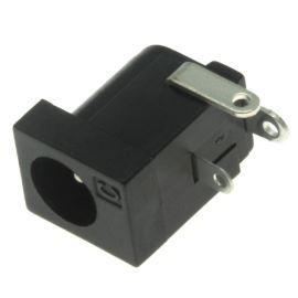 Napájecí konektor souosý 5.5/2.1mm vidlice úhlová 90° přímá do DPS se spínačem Cliff FC68148