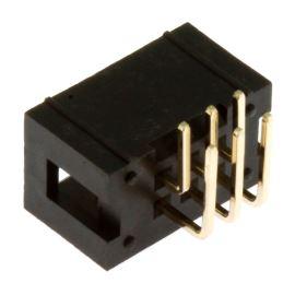 Konektor IDC pro ploché kabely 6 pinů (2x3) RM2.54mm do DPS úhlový 90° Connfly DS1013-6RSiB