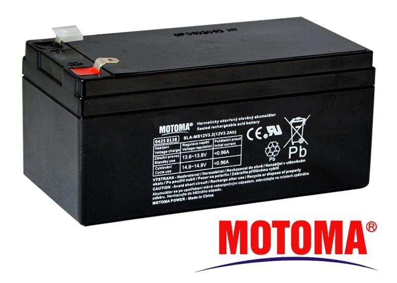 MOTOMA Baterie olověná 12V / 3,2Ah bezúdržbový akumulátor