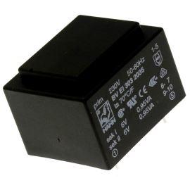 Trasnformátor do DPS 1.9VA/230V 2x6V Hahn BV EI 303 2035