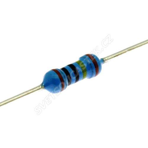 Metalizovaný rezistor 0207/0,6W 22 ohm 1% Yageo MF0207FTE52-22R