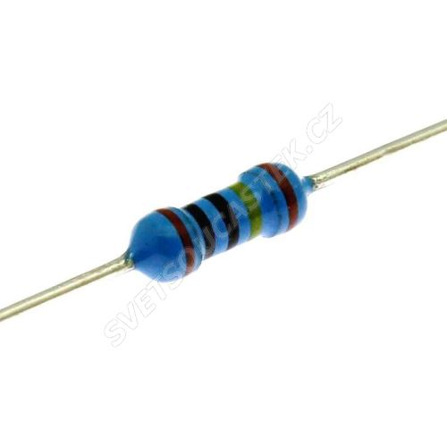 Metalizovaný rezistor 0207/0,6W 4M7 ohm 1% Yageo MF0207FTE52-4M7