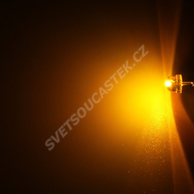 LED 4,8mm žlutá 200mcd/170° čirá Hebei 412MY8C