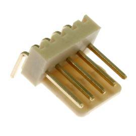 Konektor se zámkem 5 pinů (1x5) do DPS RM2.54mm úhlový 90° pozlacený Xinya 137-05 R G