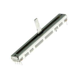 Posuvný potenciometr 200mW lineární STEREO 10k Ohm 20% ALPS RS6011DY-10KBX2