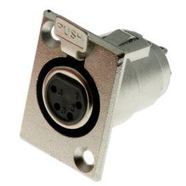 Konektor XLR 4 piny do panelu zásuvka Ninigi XLR-4G-C