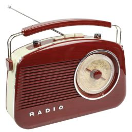 Retro rádio přenosné AM/FM hnědé König RDFM5000BN