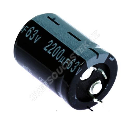 Elektrolytický kondenzátor Snap-in E 2200uF/63V 22x30 RM10 85°C Jamicon LPW222M1JN30M