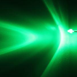 LED 1,8mm zelená 6000mcd/30° čirá Hebei 130PG2C