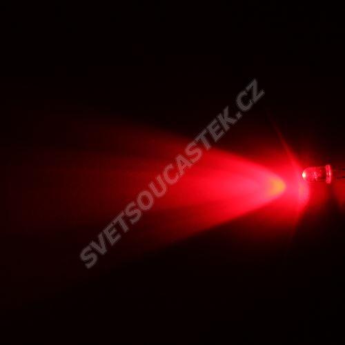 LED 5mm červená 6000mcd/40° čirá Hebei 540PR2C