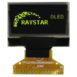 Grafický OLED displej Raystar RET012864CYNP3N00000
