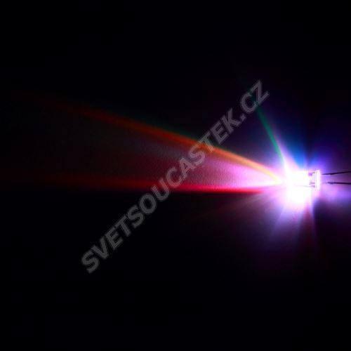 LED 5mm RGB rychle měnící barvu 1500mcd/15° čirá 2 vývody Hebei 5XRGB-F2-F