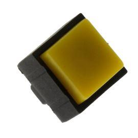 Tlačítkový spínač do DPS přímý spínací 1-pólový (ON)-OFF 25mA 50V Jietong  PBS-18B YELLOW