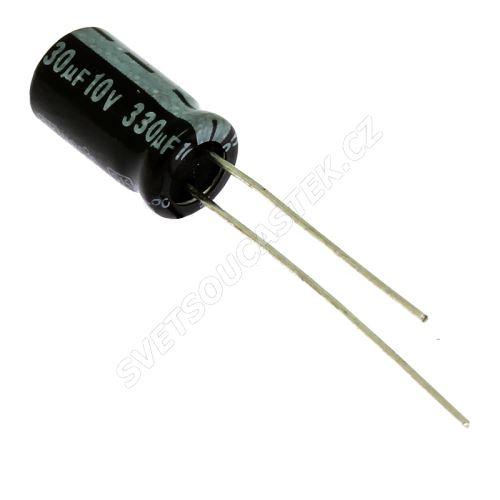 Elektrolytický kondenzátor radiální E 330uF/10V 6.3x11 RM2.5 85°C Jamicon SKR331M1AE11M
