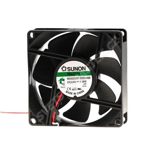 Ventilátor 80x80x25mm 24V DC/73mA 33dB SUNON ME80252V1-000U-A99