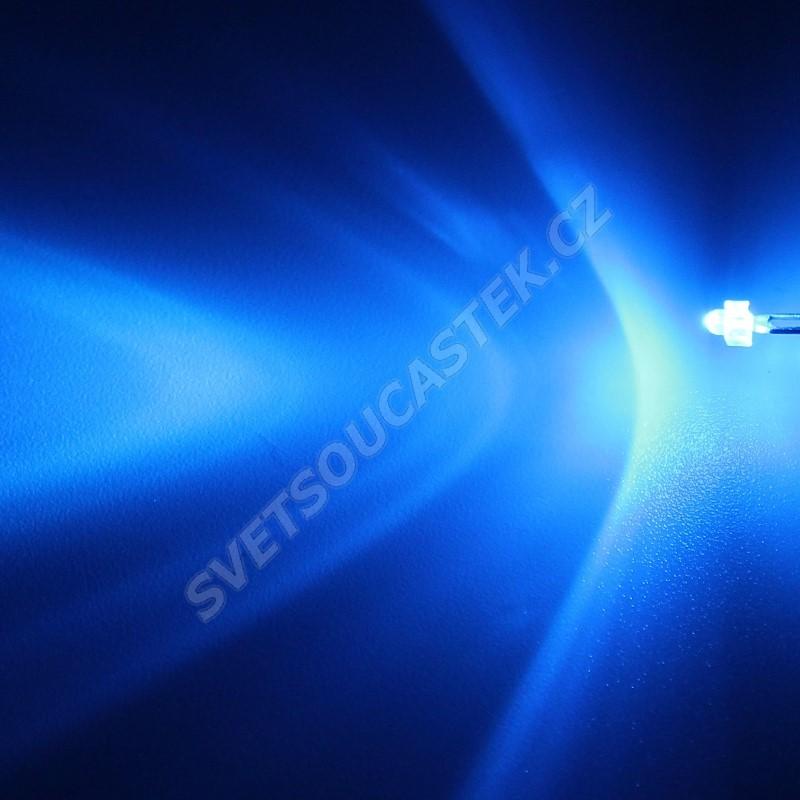 LED 1,8mm modrá 2100mcd/30° čirá Hebei 130LB7C