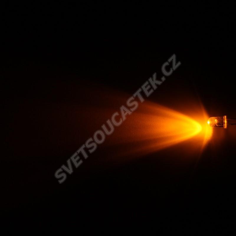 LED 5mm žlutá 8000mcd/40° čirá Hebei 540PY9C