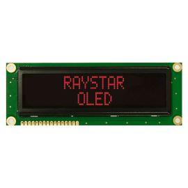 Alfanumerický OLED displej Raystar REC001602BRPP5N00001