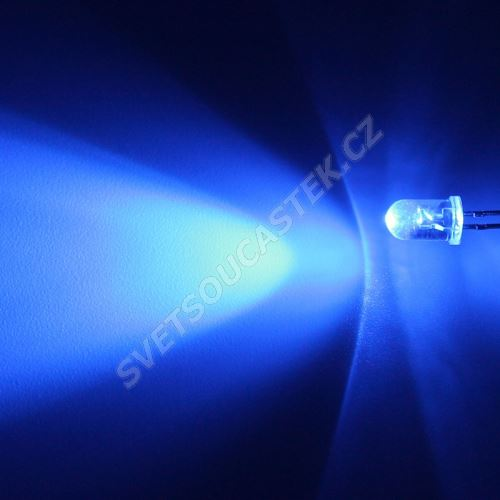 LED 5mm modrá 2130mcd/30° čirá Hebei 530LB5C