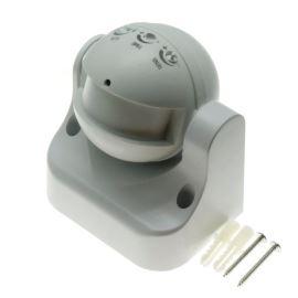 Mikrovlnný senzor (pohybové čidlo) nástenný biela farba ST752