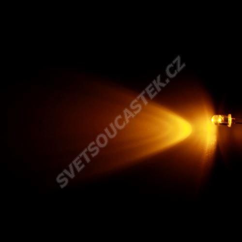 LED 5mm žlutá 3000mcd/65° čirá Hebei 560PY9C